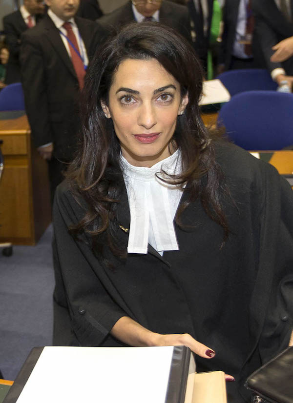51638660 Lawyer Amal Alamuddin-Clooney represents Armenia at the European Court of Human Rights in Strasbourg, France on January 28, 2015. Amal Clooney will be a great asset to Armenia's legal team in Strasbourg, in the appeal of Perincek vs. Switzerland before the Grand Chamber of the European Court of Human Rights. The case involves the conviction by Swiss courts of Dogu Perincek, a Turkish political party leader, who had travelled to Switzerland in 2005 with the explicit intent of denying the truth of the Armenian Genocide. In 2008, Perincek appealed the Swiss ruling to the European Court of Human Rights. FameFlynet, Inc - Beverly Hills, CA, USA - +1 (818) 307-4813 RESTRICTIONS APPLY: USA ONLY