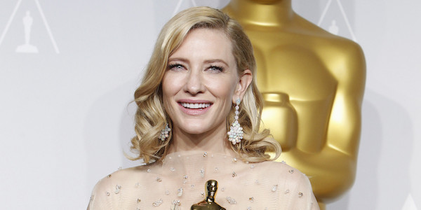 THE OSCARS(r) - PRESS ROOM - The Academy Awards(r) for outstanding film achievements of 2013 will be presented on Oscar Sunday, MARCH 2 (8:00-11:00 p.m., ET/5:00-8:00 p.m., PT), at the Dolby Theatre(r) at Hollywood & Highland Center(r) and televised live on the ABC Television Network. (Photo by Rick Rowell/ABC via Getty Images) CATE BLANCHETT