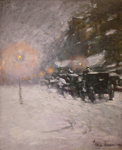 Childe Hassam Winter, Midnight (1894) nolmus