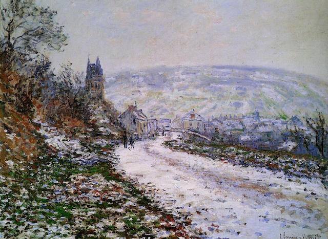 Entrance to the Village of Vétheuil in Winter 1879 Claude Monet