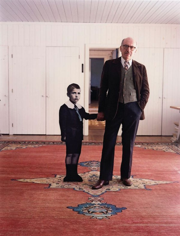 Saul Steinberg, with himself as a Little Boy, Long Island, 1978