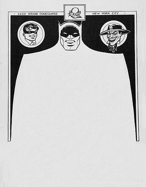 Letterhead used by the late-Bob Kane, creator of Batman.