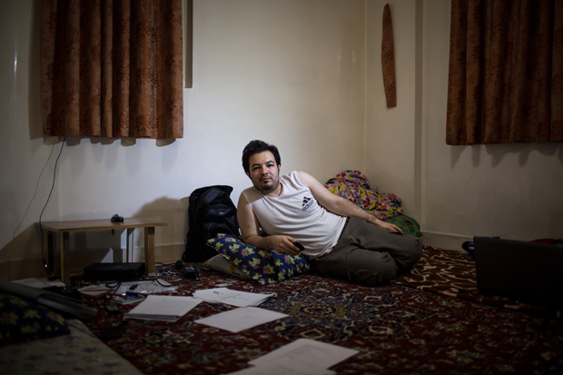 Farshid, 25, studying artificial intelligence and his family lives in Tabriz. 75 percent of population of Iran are under 35 years old who prevent marriage because of economic and social difficulties.This leads to rising of the age of marriage and other social phenomenas like bachelor living and departure of youngs from their family.Studies show that 7.1 percent of Iranians living alone, most of them in Tehran, capital of Iran. Bachelor living of girls shows their point of view: modernism and western life style, drifting away from traditional life.They also want to prove that they can live independent without any support from their families, just like boys do. The reasons why young boys and girls prefer a bachelor life could be the hard time they spend with their traditional familis and not having any common point of view with them, job and education. I started working on the life of this group of society and pictured their portrait in their homes.