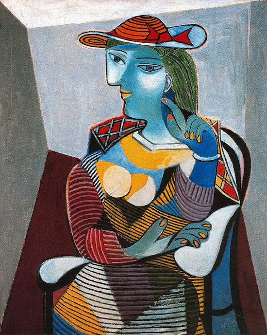 Marie Therese portre picasso resim 5