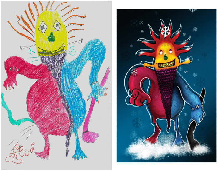 Monsters by Kids Hilal Kurbe
