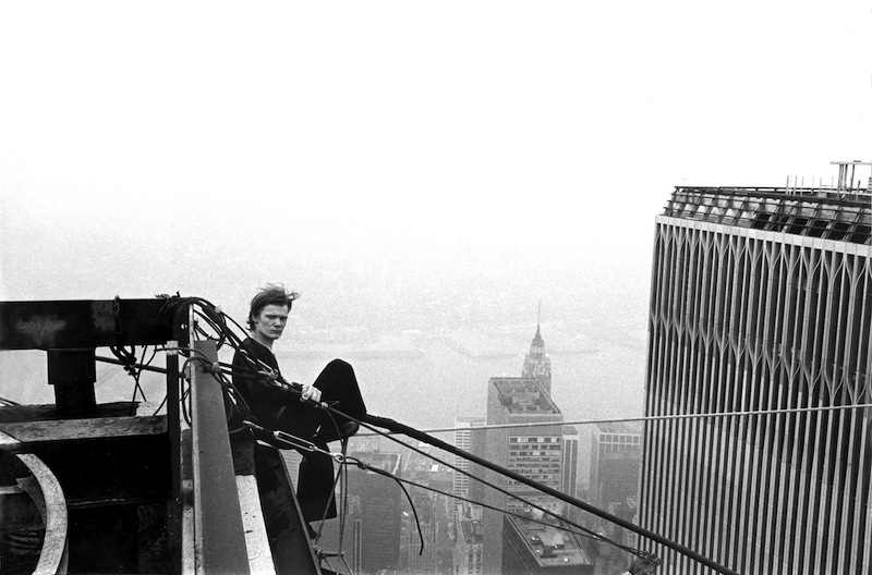 Philippe Petit's Performs High-Wire Walk Between the Twin Towers in 1974