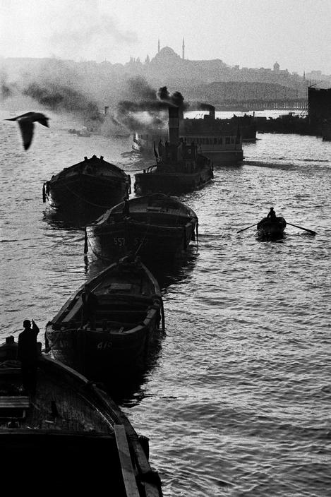 TURKEY. 1958. Barges and ferry-boats in the Golden-Horn