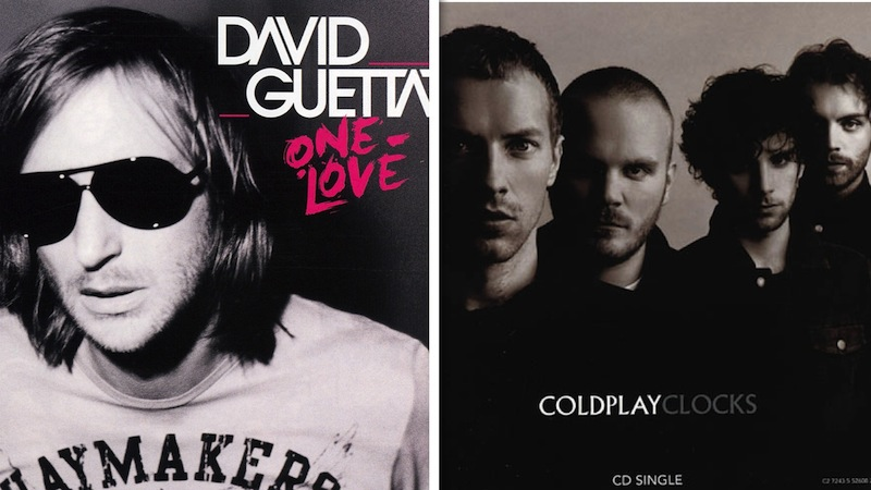 coldplay david guetta benzerlik