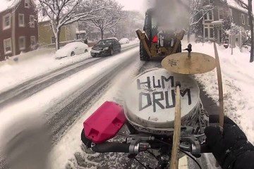 drum biking in the snow video vimeo