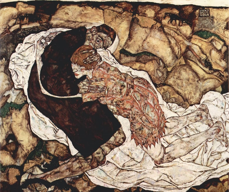 econ schiele death and girl resim