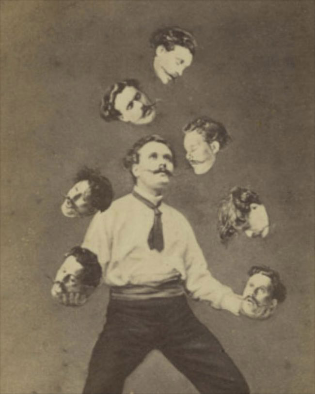 Unidentified French artist Published by Allain de Torbéchet et Cie. Man Juggling His Own Head ca. 1880